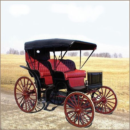 Horse drawn auto surrey carriage wagons for Car carriage
