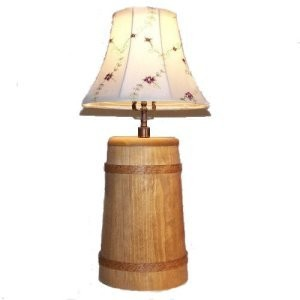 Handmade Wood Butter Churn Lamp