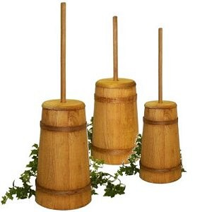 Decorative Wood Butter Churns